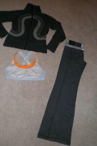 Lot of Lululemon Groove Pants, Rare Cuddle Up Jacket and Bra sz 6