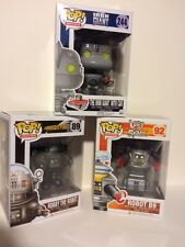 "Funko ROBOT 3PC 3.75"" POP SET LOST IN SPACE B9 - IRON GIANT - ROBBY ROBOT"