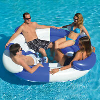 """Swimline 78"""" Swimming Pool 4 Person Sofa Island Lounger Inflatable Float"""