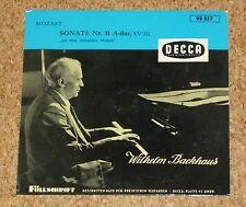"Single 7"" Mozart Sonate No 11 A-dur Piano Backhaus DECCA VD 527"
