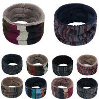 Unisex Folk-custom Snood Neck Warmer Fleece Knitted Scarf Scarves Shawl Cowl