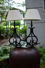 Cast Iron Table Lamp - Pair