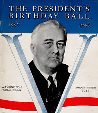 President Roosevelt's Birthday Ball 1945, Myrna Loy & Jane Wyman Autographs + 11