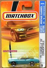 MATCHBOX 2008 HERITAGE CLASSICS '71 CHEVELLE SS CONVERTIBLE W+