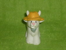 Fisher Price Little People White Farm Goat Straw Hat