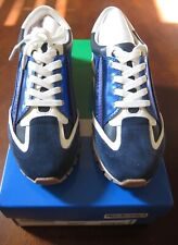 REDUCED! NIB TORY SPORT BANNER TRAINER SNEAKERS BRIGHT NAVY SLALOM BLUE SIZE 6.5