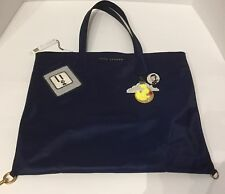 MARC JACOBS WINGMAN PATCH NYLON TOTE BAG IN MIDNIGHT BLUE NEW! $275