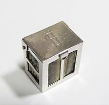 Vintage Movable Money Box with Dollar Sign & Dollar Inside Sterling Silver Charm