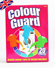 20 SHEETS COLOUR GUARD CATCHER AVOID COLOR RUNS WASHING MACHINE CLOTHES LAUNDRY