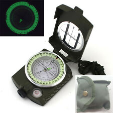 2018 Portable Military Army Geology Lensatic Compass Prismatic Outdoor Camping