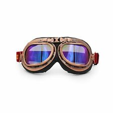 Copper Motorcycle Goggles Glasses Eyewear WWII RAF VINTAGE PILOT Tinted Lens US