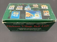 Dickens Village Bell Lites- Porcelain Holiday Ornaments- Houses- Christmas