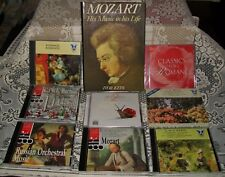 15 x CLASSICAL MUSIC CDS (6xused, 9xunused/sealed) sets/singles + MOZART BOOK