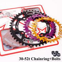 104bcd 30-52T Narrow Wide Chainring MTB Road Bike Crankset Chainwheel Chainset