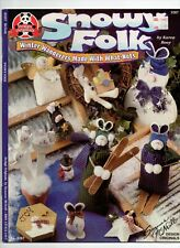 SNOWY FOLK CRAFT INSTRUCTION BOOK 3267 BY KAREN BOOY DESIGN ORIGINALS C1998!