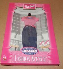 Barbie Fashion Avenue Collection Real Clothes Jeans Mattel 19179 NIB 97 121U