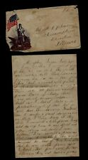 New listing Civil War Letter - 116th Illinois Infantry, Negro Soldiers Killed 900 Prisoners!