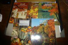 Lot of 5 vintage Ideals Thanksgiving/Autumn books/magazines 1980s-2000s