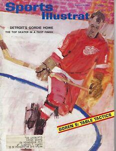 1964 3/16 Sports Illustrated magazine hockey Gordie Howe, Detroit Red Wings GOOD