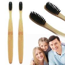 Bamboo Toothbrush - Charcoal Infused - Eco Friendly - Soft Bristles
