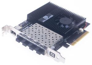 Exablaze ExaNIC X4 Quad-Port Ultra Low Latency 10GbE/1GbE PCIe 2.0 x8 NIC