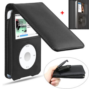 Black Leather Case Cover for iPod Classic 80gb 120gb 160gb 6th Generation
