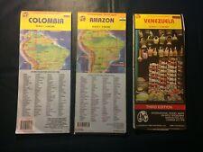 ITMB International Travel Maps Colombia Amazon Brazil (Lot of 3)