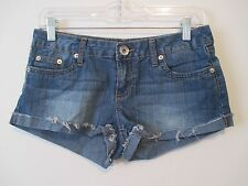 Womens Juniors 3 YMI Denim Jean Shorts Low Rise Cutoff Style Stretch W 31.75 L 2