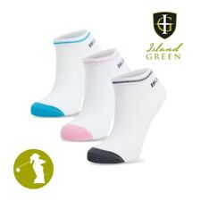 Island Green IGLSCK1871 Ladies Assorted Colour Trainer Golf Shoe Socks  - 3 Pack