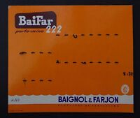 Ancien carton PLV Présentoir BAIGNOL et FARJON  écriture stylo plume pen nibs