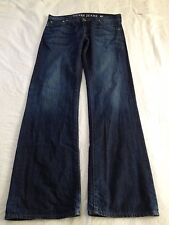 Guess Premium Denim Mens Mid Rise Desmond Relaxed Fit Blue Jeans Size 33 L34