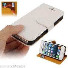 Custodia a Portafoglio Ecopelle Bianca per iPhone 5 5s Carta di Credito Cover
