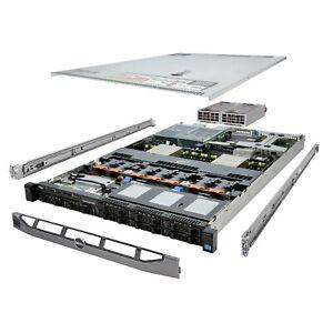 Dell PowerEdge R620 Server 2x E5-2667 2.90Ghz 12-Core 64GB 2x 300GB H710 Rails