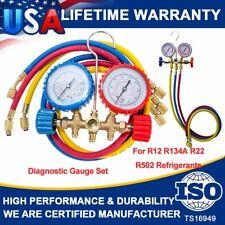 New listing A/C Ac Manifold Gauge Sets Quick Coupler Air Conditioner Refrigeration R134A R12