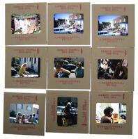 1970 Hippy Culture Garage Sale Yard Party Color 35mm Slide Lot of 9 Vtg Original