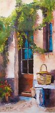 JAMES PRATT TUSCAN DOORWAY Hand Signed Limited Editon Giclee on Canvas ITALY ART
