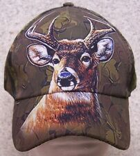 Embroidered Baseball Cap Hunting Deer Head NEW all cammie 1 hat size fits all
