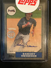 2017 Topps Series 1 Dansby Swanson 1987 Ash Wood Autograph Auto 08/10 Braves