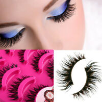 5 Pairs Natural Cross Eye Lashes Extension Makeup Long False Eyelashes A20. B7F3