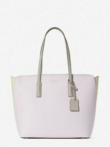 Kate Spade Margaux Large Shoulder Tote Bag Lilac with Moonlight Color block New