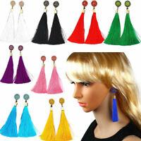Fashion Vintage Women  Long Tassel Dangle Earrings Fringe Drop Earrings Jewelry