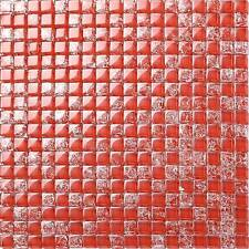 Glass Mosaic Wall Tiles Red Crackle Bathroom Shower Basin Splashback (MT0084)