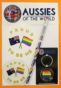 PROUD TO BE ME AUSSIE GIFT AUSTRALIAN KEYRING MAGNET LESBIAN GAY LGBT SOUVENIR