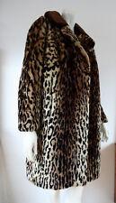 TRUE VINTAGE oversize Webpelz Mantel fake fur Teddyfell Leo Rockabilly Blogger