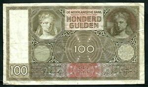 Netherlands (P51c) 100 Gulden 1944