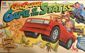 New Vintage Geosafari Game of the States Education Board Game Geography Maps +++
