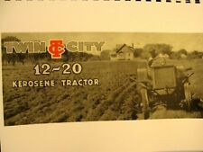 1918-1919  Twin City  Minneapolis-Moline 12-20 Kerosene Tractor Sales Manual
