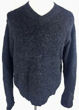 Abercrombie Fitch Mens 100% Lambswool Sweater M Medium Marled Heathered Pullover