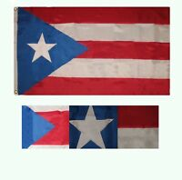 3x5 Embroidered Sewn Historic Light Blue Puerto Rico 300D Nylon flag 3'x5'