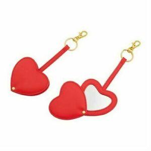 Avon Red Heart Mirror Keyring / Hanging Bag Charm New Gift Idea